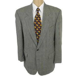24fed13ad9 40 L Hugo Boss Corleone Gray Glen Plaid Wool 2 Btn Mens Jacket Sport ...