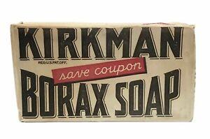 VINTAGE-1940-039-s-KIRKMAN-BORAX-SOAP-BAR-ORIGNAL-PACKAGING