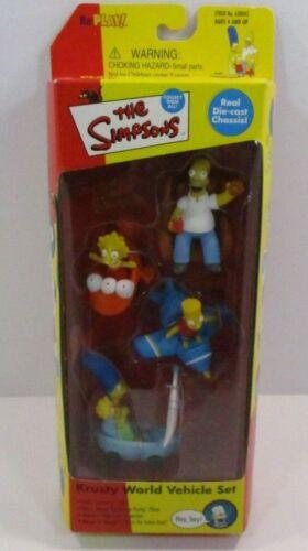 The Simpsons Krusty World Vehicle Set Playmate Toys 2000 Action Figure Set