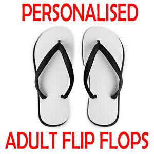 6f2769528253 Image is loading Personalised-Adults-Flip-Flops-Bride-Groom-Ladies-Mens-