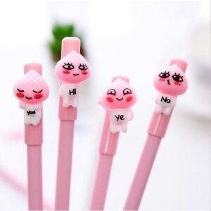 Image is loading 4Pc-Kawaii-APeach-Kakao-Friends-Cartoon-Gel-Pens-