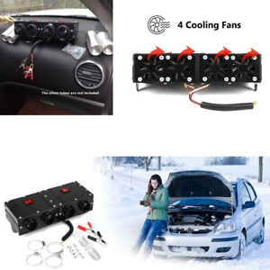 150W//300W Portable Car Heating 4 Hole Dry Heater Fan DC 12V Defroster Demister