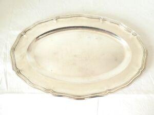 Grand-plat-ovale-CHRISTOFLE-en-metal-argente
