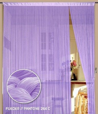Farbe Gold Fadenvorhang Vorhang Gardine Kaikoon 90 cm x 240 cm BxH