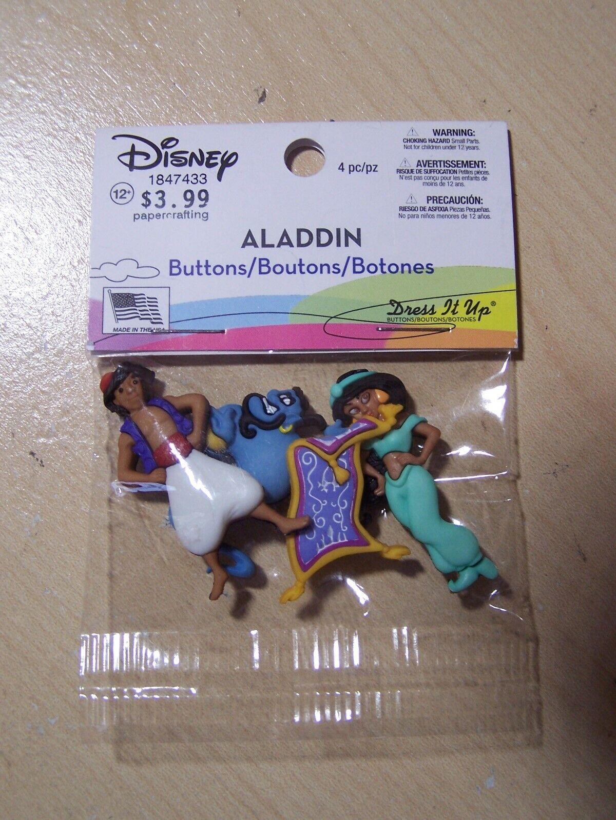 Aladdin Dress It Up 7748 Disney Button Embellishments