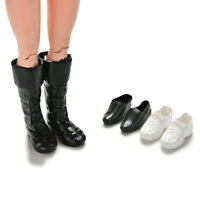 3 Pairs Dolls Cusp Leather Shoes Boots For Ken Doll Barbie Boyfriend Toys Ew