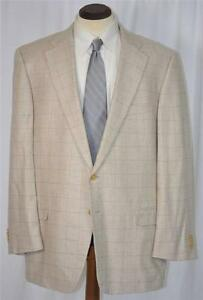 NWOT-1895-ERMENEGILDO-ZEGNA-Cashmere-Silk-Side-Vent-Windowpane-Coat-Jacket-46-R