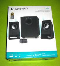 Logitech z213 Multimedia Speakers Full Bass Compact Computer Laptop 7W 14W