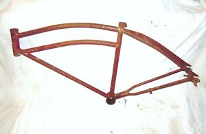 Vintage-Colson-Bicycle-Frame-Vintage-Balloon-Tire-Bike-Mens-double-bar-bicycles