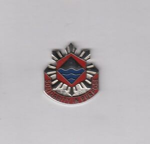 US Army 276th Engineer Group DUI crest c//b clutchback badge P-23