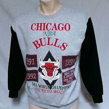 VTG Chicago Bulls Sweatshirt Long Gone 1993 Jordan Shirt 90s Finals 50/50 Large