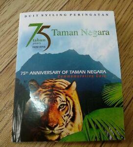 2014-Malaysia-National-Park-Taman-Negara-Tiger-Harimau-BU-coin-card-1-pc