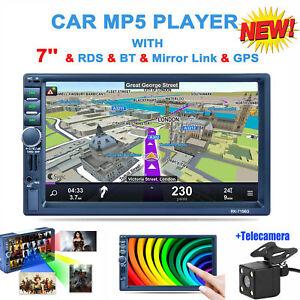 7-039-039-2-Din-Autoradio-Touch-Screen-Bluetooth-GPS-Stereo-MP5-FM-Radio-Telecamera