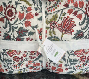 New Pottery Barn Lakshmi Reversible Block Print King Quilt