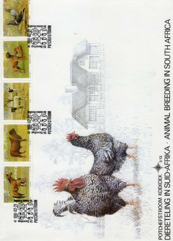Commemorative Stamp & Envelope Set - Animal Breeding in South Africa