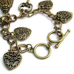 Accessorize Ladies' Bracelet Charm Watch Hearts J1086