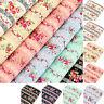 Cotton Fabric FQ Rose Flower Lace Stripe Print Vintage Retro Dress Quilting VK95