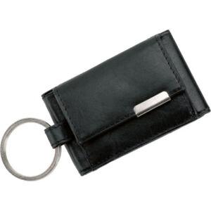 Alassio-Mini-Boerse-Metallemblem-Geldboerse-Kombiboerse-Nappaleder-schwarz-42133
