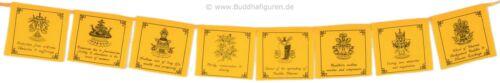 Tibetan Prayer Flags Nepal Tibetische Gebetsfahnen gelb Tashi Tagey 8 Blatt