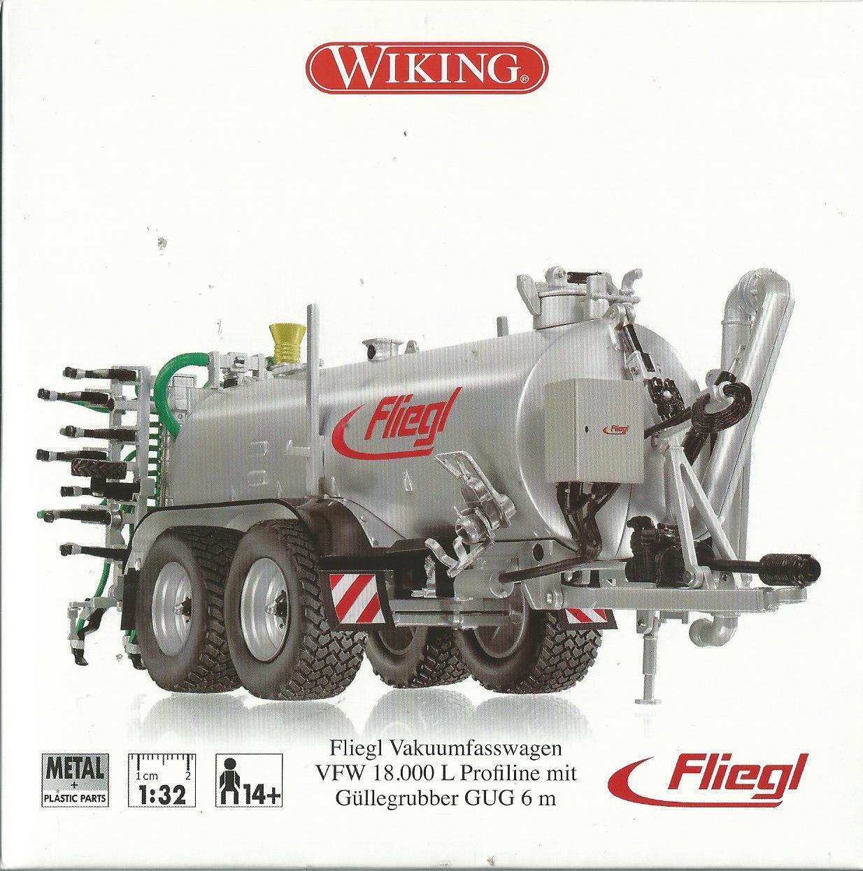 WIKING 1 32 REMOLQUE DE METAL FLIEGL VFW 18.000 L 14+ ARTE 7338