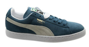 Puma Suede Classics+ Mens Trainers Lace Up Shoes Blue White 352634 ... 124fafe20