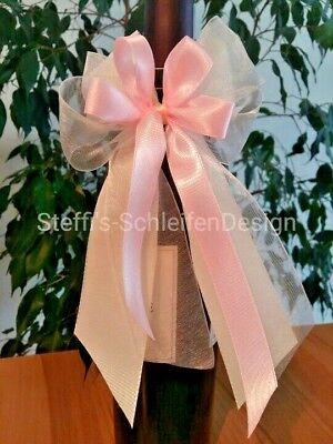 10 Antennenschleifen Autoschleifen Hochzeitsdeko Autodeko Schleifen Creme Rosa Angenehme SüßE