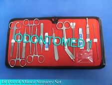 18 Pcs Minor Surgery Set Surgical Instruments Kit Stainless With Case Ds 1179