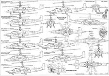 PLS-72018 1/72 Kamov Ka-50 Full Size Scale Plans (two A2 format pages)