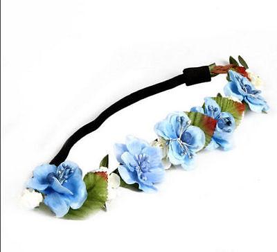 New Boho Style Floral Flower Rose Party Wedding Hair Wreaths Headband Hair Band