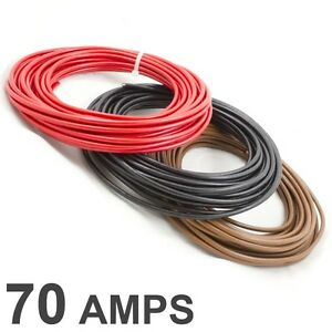 5M coil *70 AMP Rated* 10mm2 Thin Wall Single Core Cable - Car ...