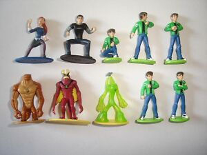 BEN 10 ALIEN FORCE FIGURINES SET CARTOON - FIGURES COLLECTIBLES MINIATURES