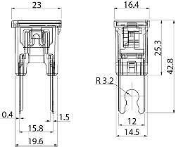30 Amp PAL japonais Fuse Slow Blow 294 série rose 12 V 24 V 32 V Cargo 191155