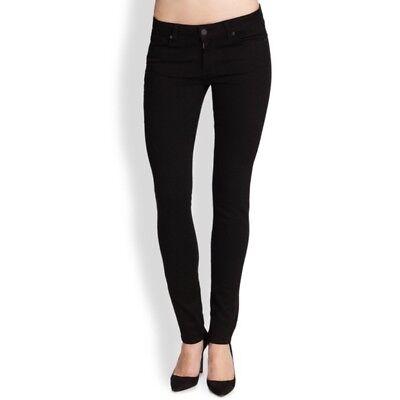 NWT Women/'s Paige Denim Licorice Black  Peg Super Skinny Pant Jeans sz 30