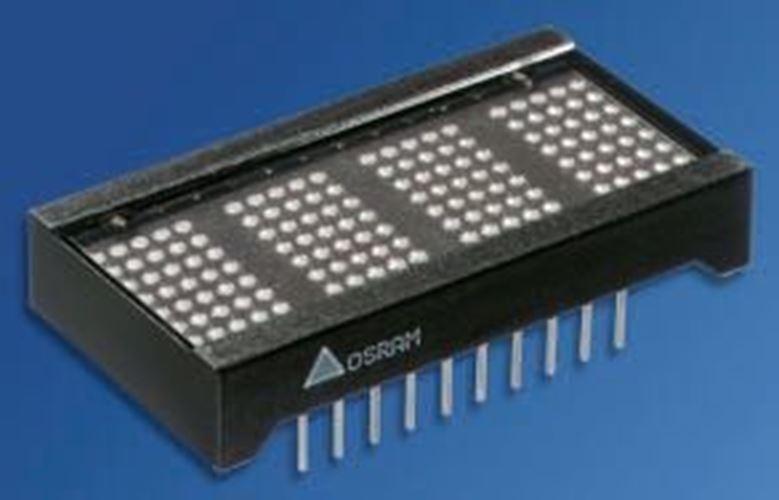 OSRAM Opto PD4437 4 Digit Dot Matrix DEL Display, 5 7 x 5 Display, Matrice Dot Vert 0.1 mcd 2af157