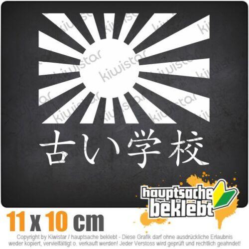Japan Oldschool 11 x 10 cm Jdm Decal Sticker Car White Window Sticker