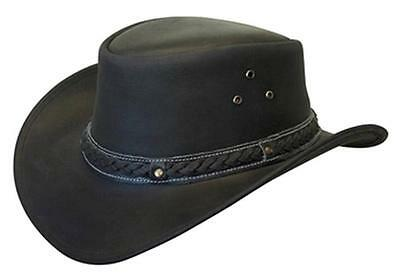 NEW Conner Down Under Crushable Water Proof LEATHER  Cowboy Hat Black A1001
