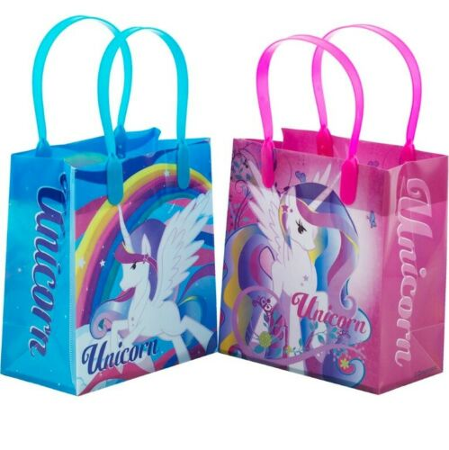 """12PCS 6/"""" Rainbow Unicorn Party Favor Goodie Gift Birthday Loot Bags Small"""