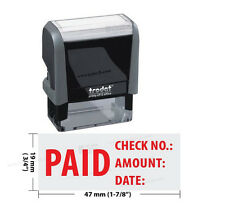 Excelmark Self Inking Rubber Stamp Paid Check No Amount