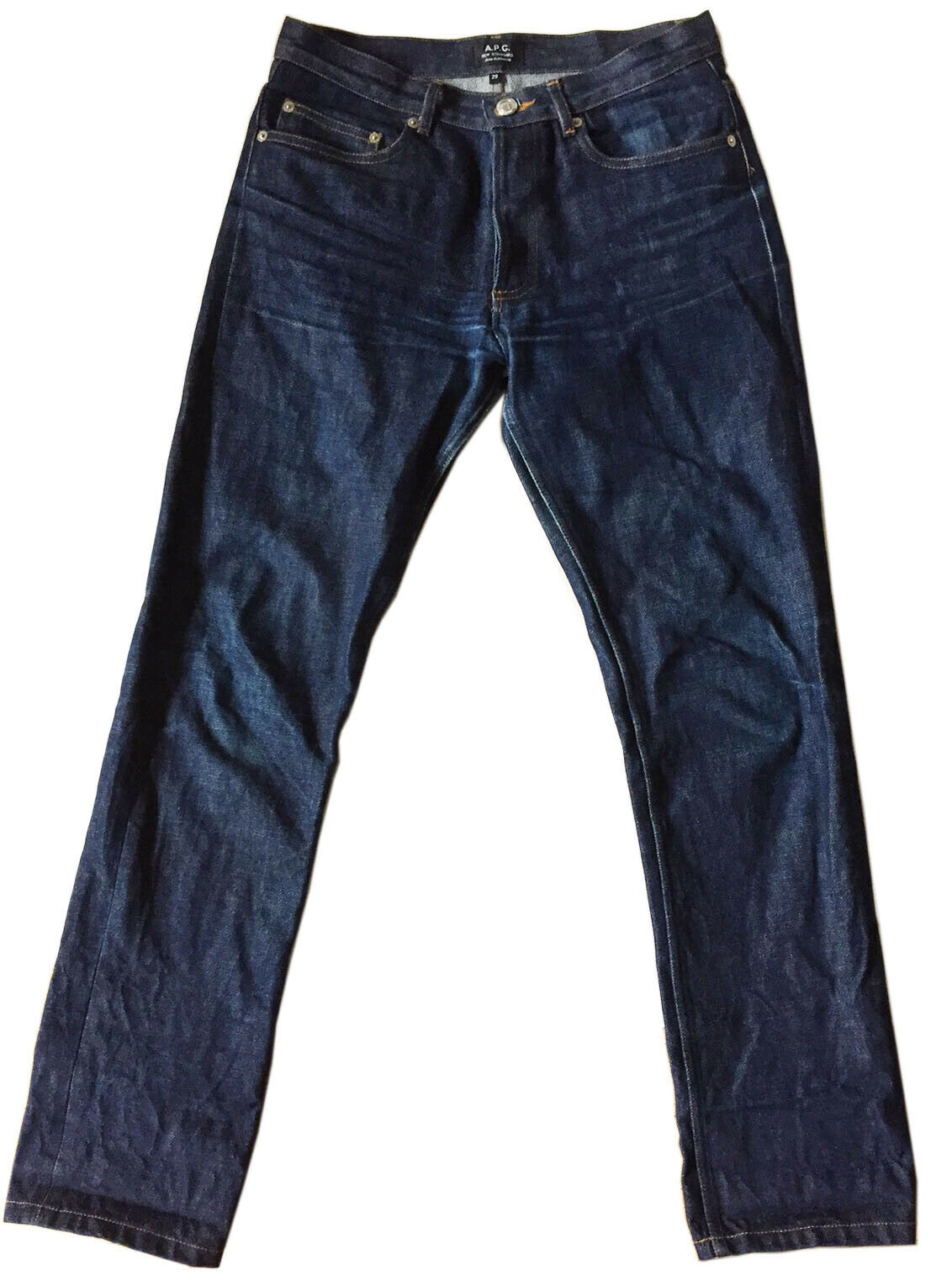 A.P.C.  New Standard Jean Classique  Button-Fly bluee Denim Sz 29 Unisex-Cut