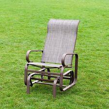 Naturefun Outdoor Patio Rocker Chair, Balcony Glider Rocking Lounge Chair