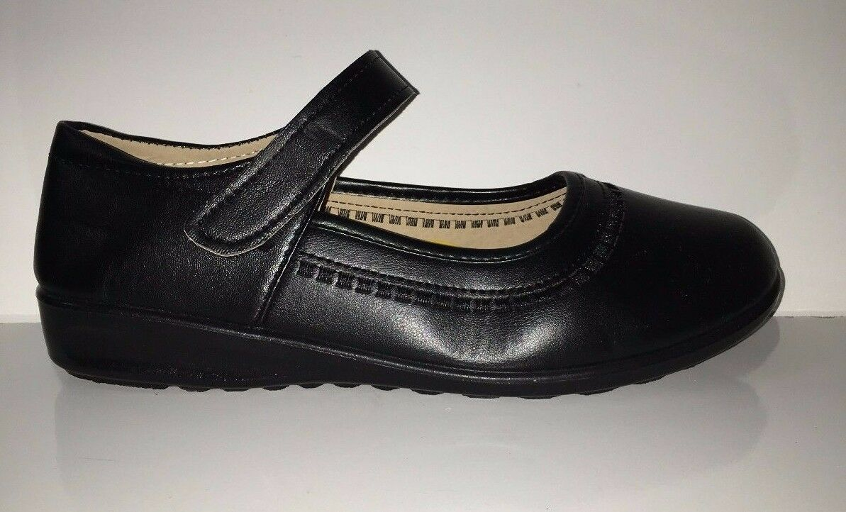 NEW Mary S-3 Women's Black Comfortable Mary NEW Janes Shoes Sz8 89189b