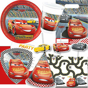 cars iii von disney mega auswahl zum kindergeburtstag deko party pixar set ebay. Black Bedroom Furniture Sets. Home Design Ideas