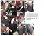 2x Autositzbezug Schonbezug Schwarz mit roter Naht Kunstleder Vordersitzbezüge