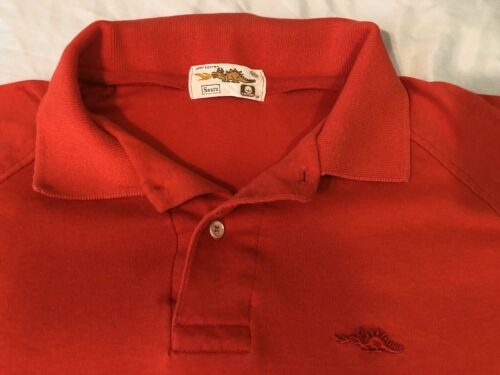 Vintage 1980s 80s Sears Dragon Polo T-Shirt, Red … - image 1