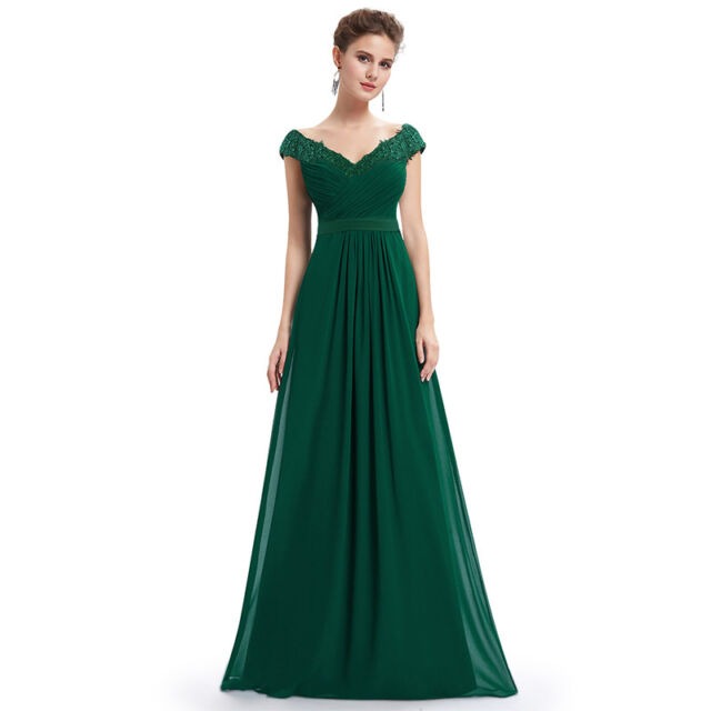V Neck Long Bridesmaid Dresses Evening Formal Homecoming Gown 08633