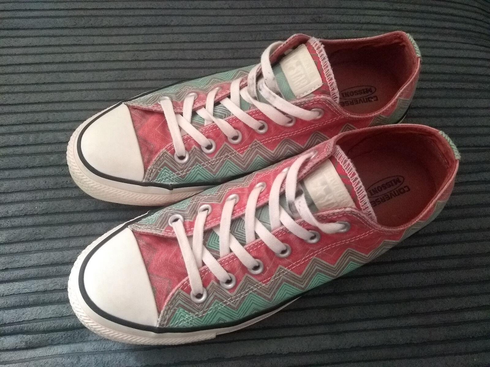 UNISEX USED SIZE 8 UK CONVERSE ALL-STAR MISSONI PINK TURQUOISE ZIGZAG VGC Schuhe