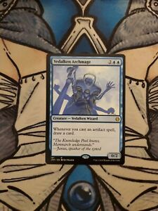 NM//Near Mint Mirrodin MTG Magic The Gathering Vedelken Archmage English