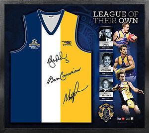 West-Coast-Eagles-Signed-OFFICIAL-AFL-Brownlow-Jumper-Framed-Ben-Cousins-Judd