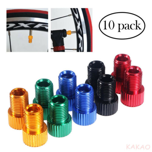 10pcs Presta to Schrader Valve Adapter Converter Bicycle Bike Tire Tube A266