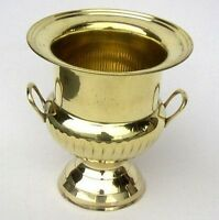 Solid Brass Decorative Cup Urn Vase Ice Bucket Wine Cooler 10 Home Bar Decor